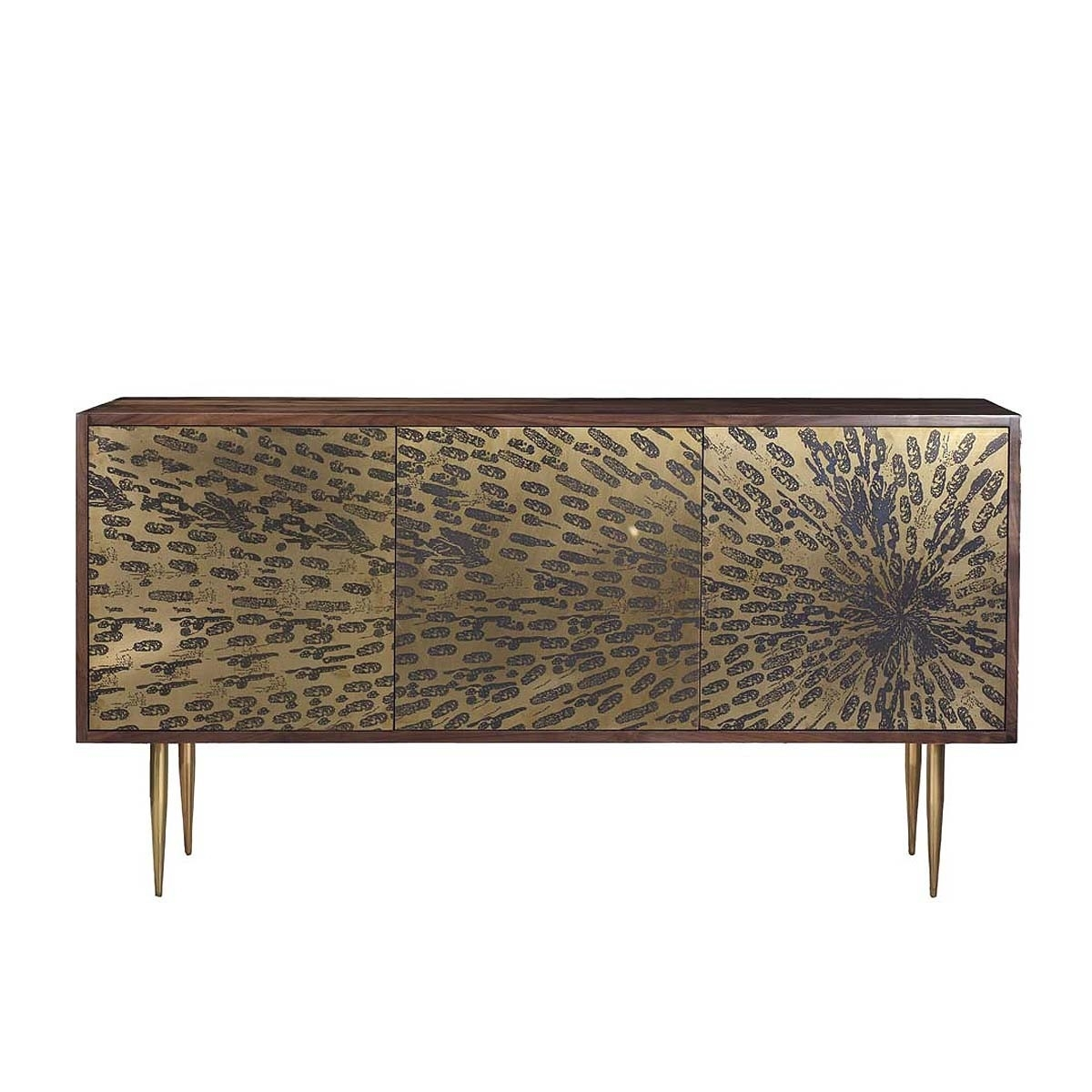 Organic Modernism – Peacock Credenza – Modern Sideboards Buy Your With Regard To Current Open Shelf Brass 4 Drawer Sideboards (View 13 of 20)