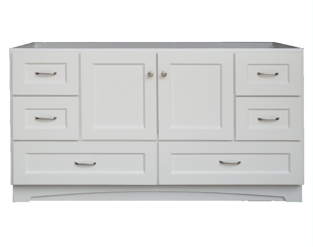 Osage Cabinet Mvr 6021 Dl 1 White 2 Door 6 Drawer Vanity 60 In X21 For Recent Charcoal Finish 4 Door Jumbo Sideboards (View 20 of 20)