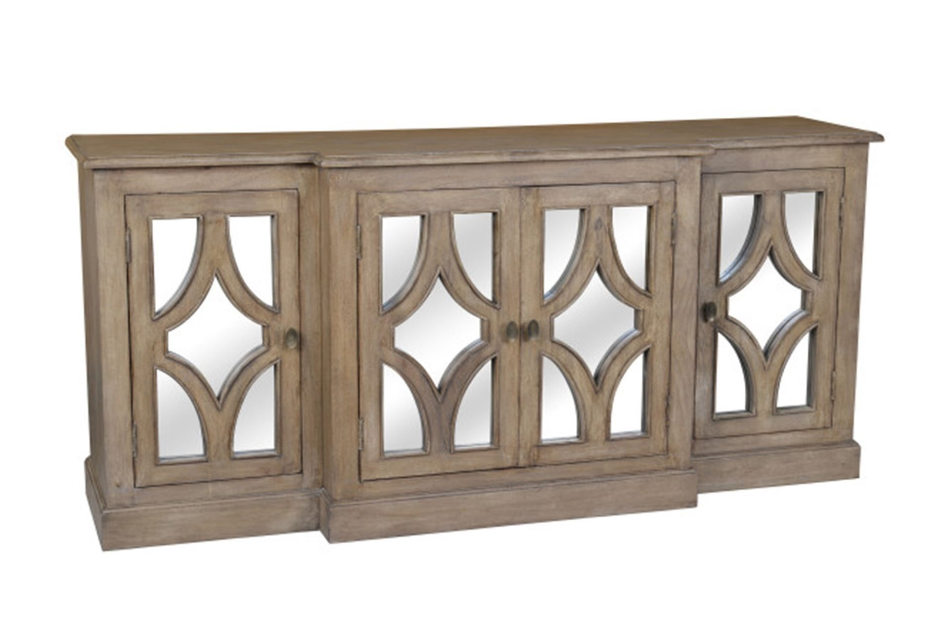 Otb Acacia Wood 4 Door Sideboard – Signature | Cherf | Pinterest For Most Current White Wash Carved Door Jumbo Sideboards (View 19 of 20)