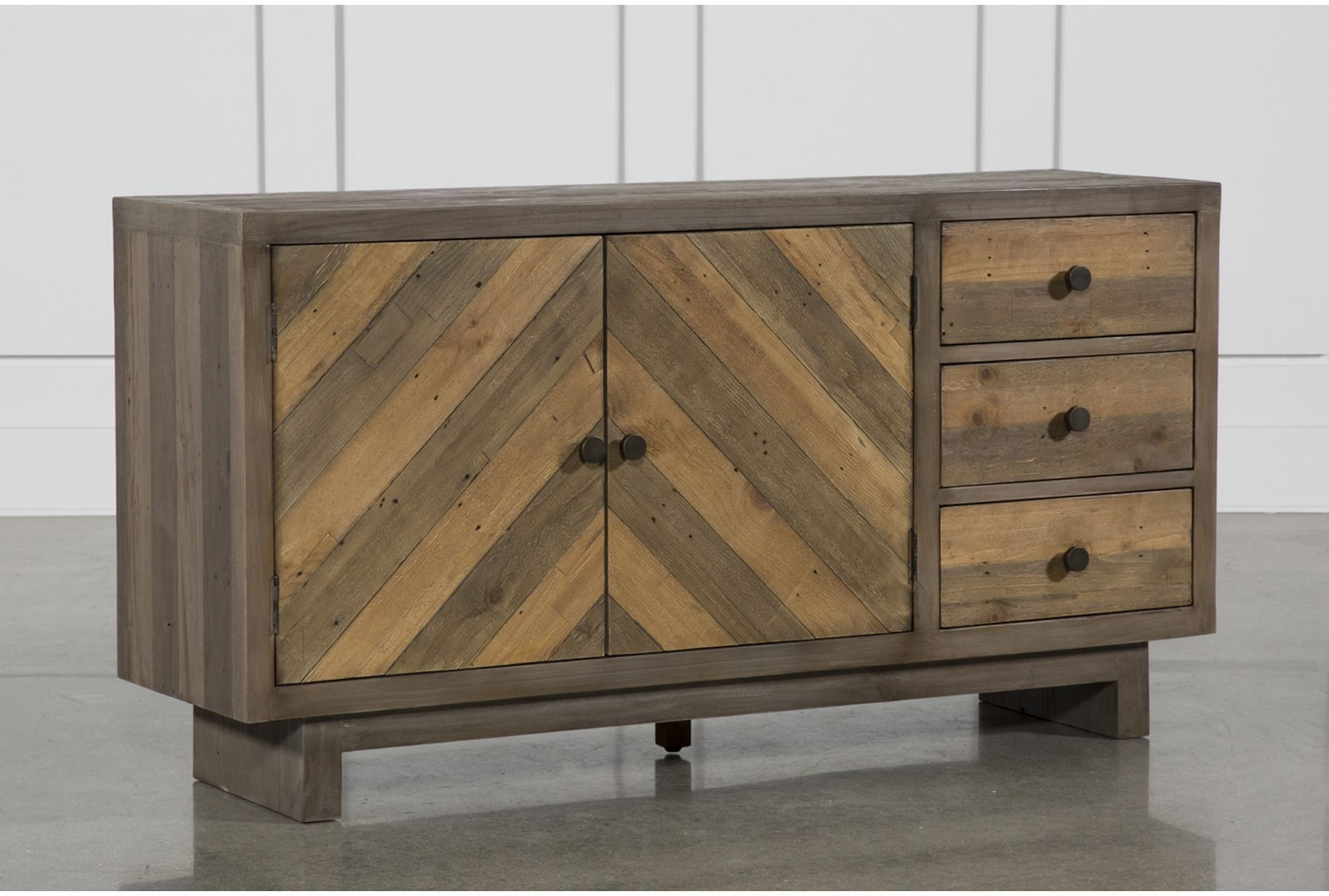 Otb Aged Pine 3 Drawer/2 Door Sideboard, Brown | Pinterest | Products With Most Recent Oil Pale Finish 3 Door Sideboards (View 8 of 20)