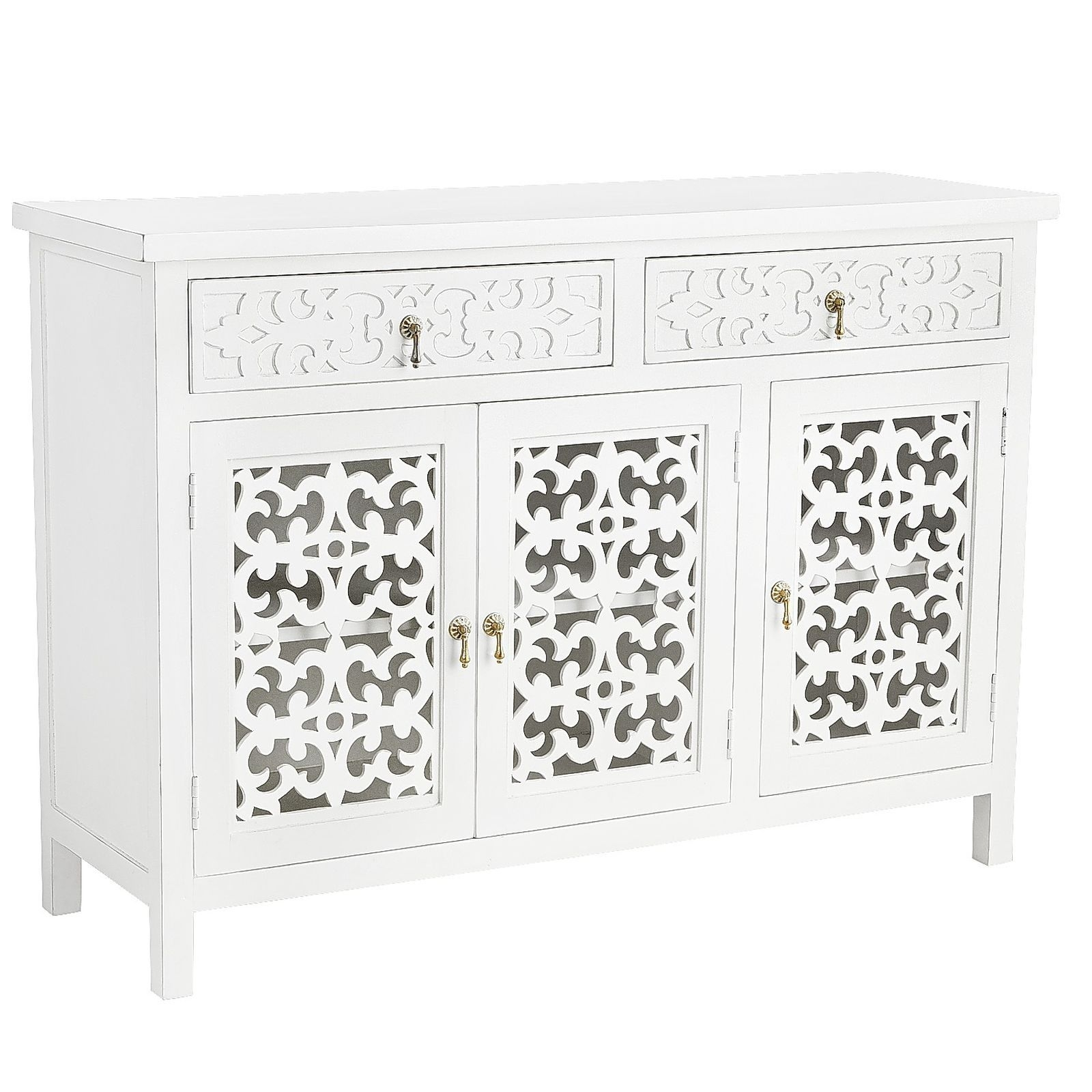 Our Landyn Tv Stand Proves A Media Cabinet Needn't Be Masculine Intended For 2018 Mandara 3 Drawer 2 Door Sideboards (View 5 of 20)
