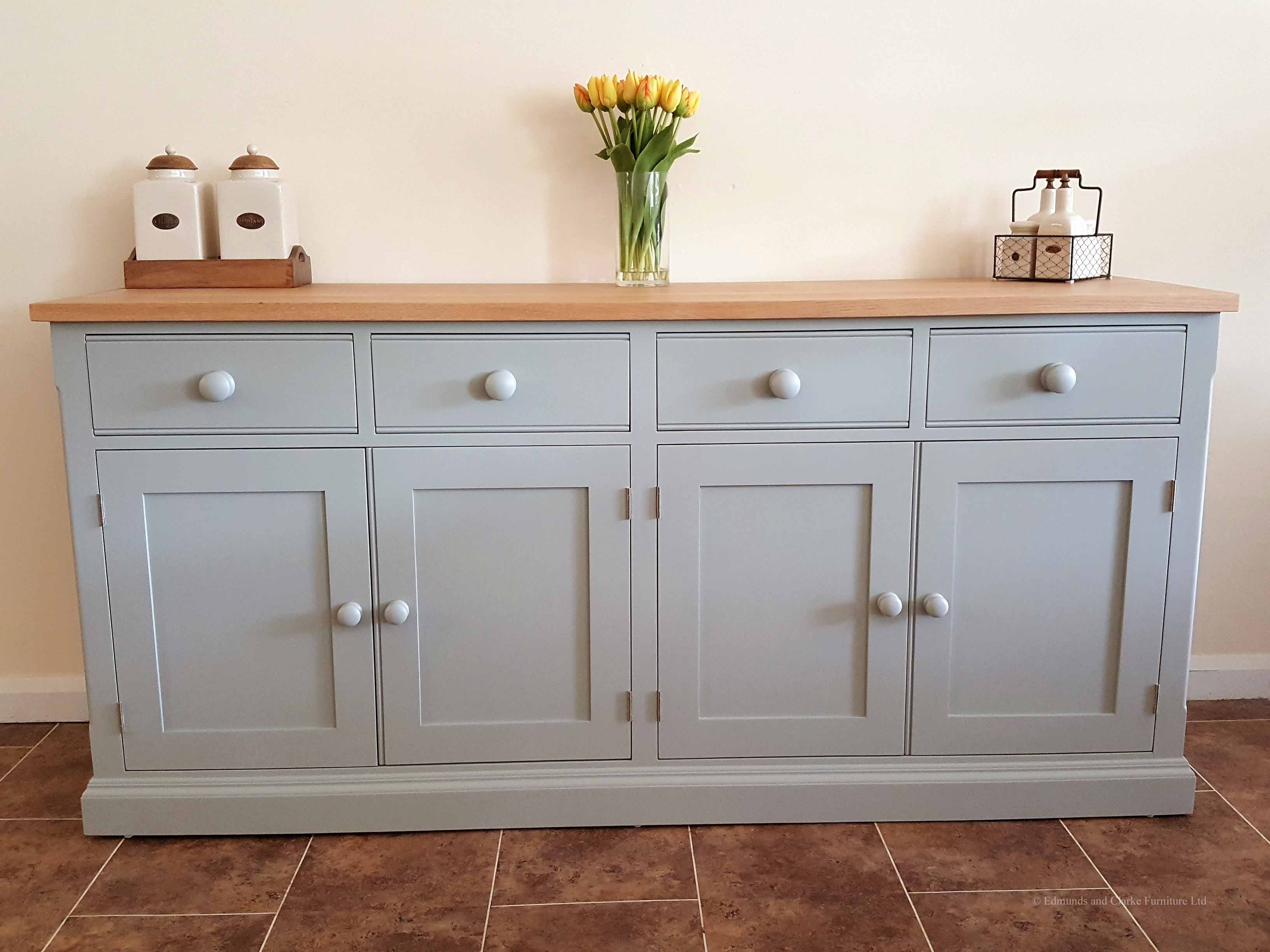 Inspiration about Painted 6Ft 6 Inch Sideboard – Edmunds & Clarke Furniture Intended For Recent 4 Door Wood Squares Sideboards (#16 of 20)