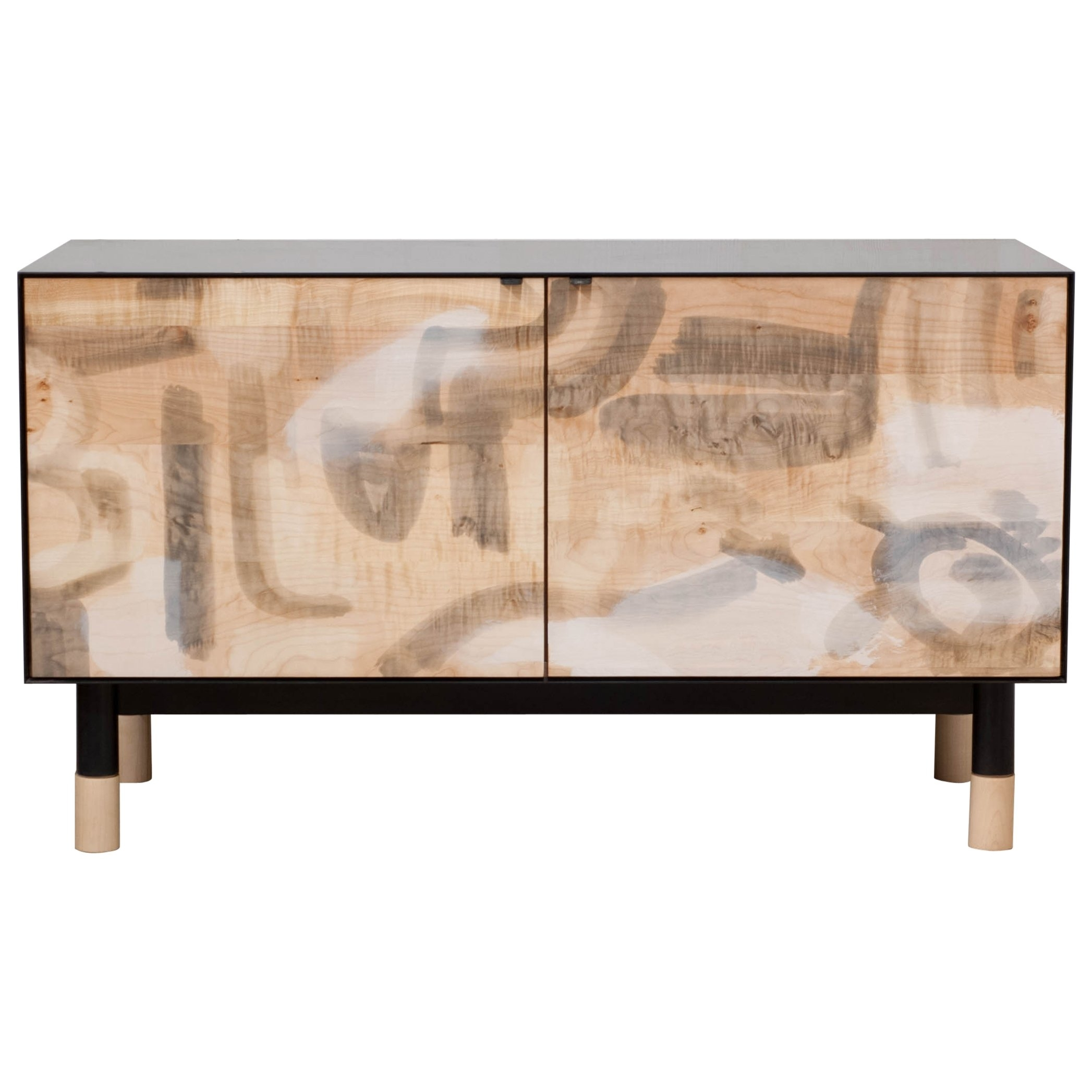 Inspiration about Painted Credenza With Blackened Steel Case For Sale At 1Stdibs With Recent Burnt Tannin 4 Door Sideboards (#5 of 20)