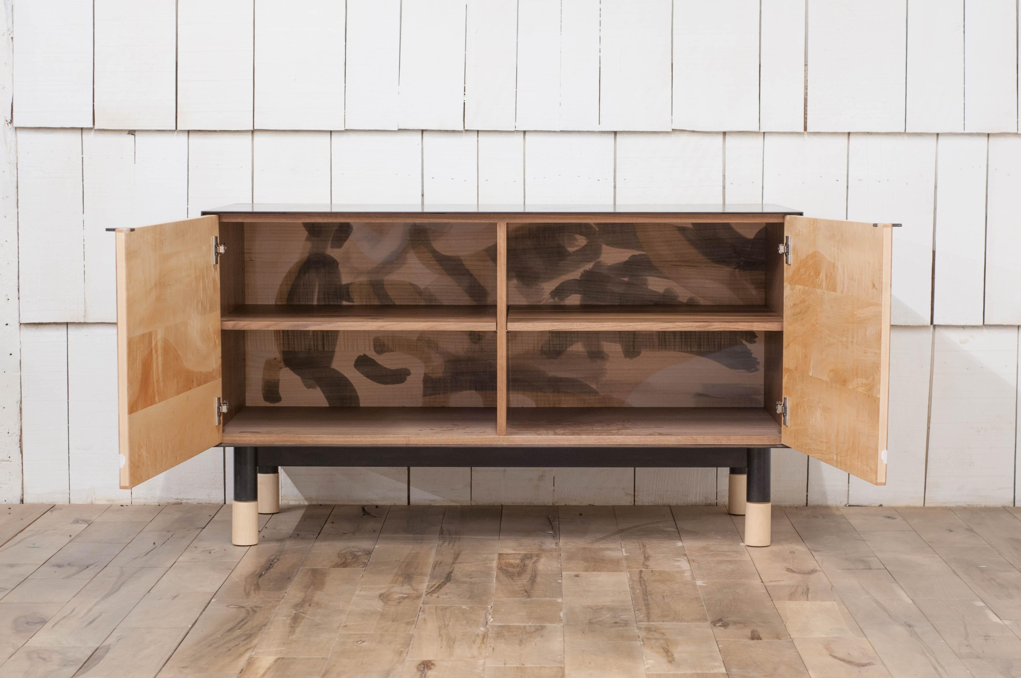Inspiration about Painted Credenza With Blackened Steel Case For Sale At 1Stdibs With Regard To Recent Burnt Tannin 4 Door Sideboards (#12 of 20)