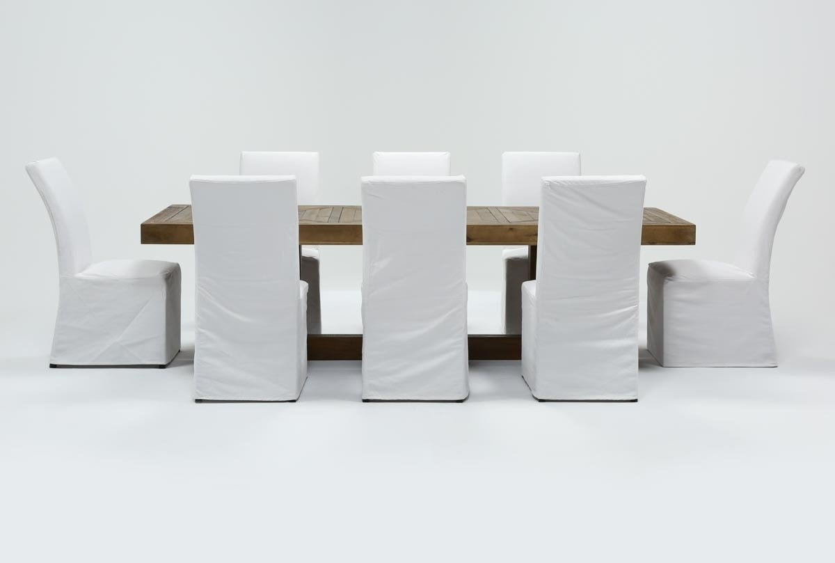 Inspiration about Palazzo 9 Piece Dining Set With Pearson White Side Chairs (#1 of 20)
