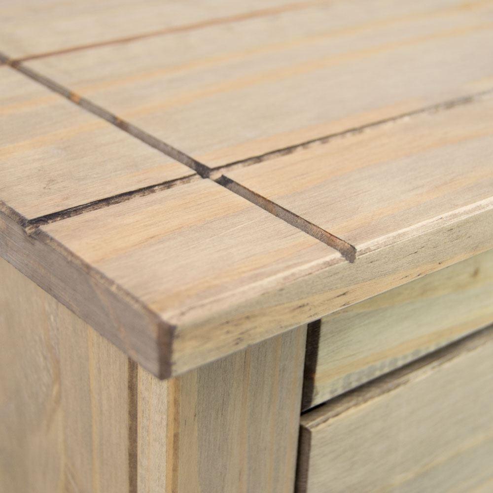 Panama Sideboard 2 Door 2 Drawer Cupboard Chest Natural Wooden Solid Inside 2018 Natural Oak Wood 2 Door Sideboards (View 17 of 20)