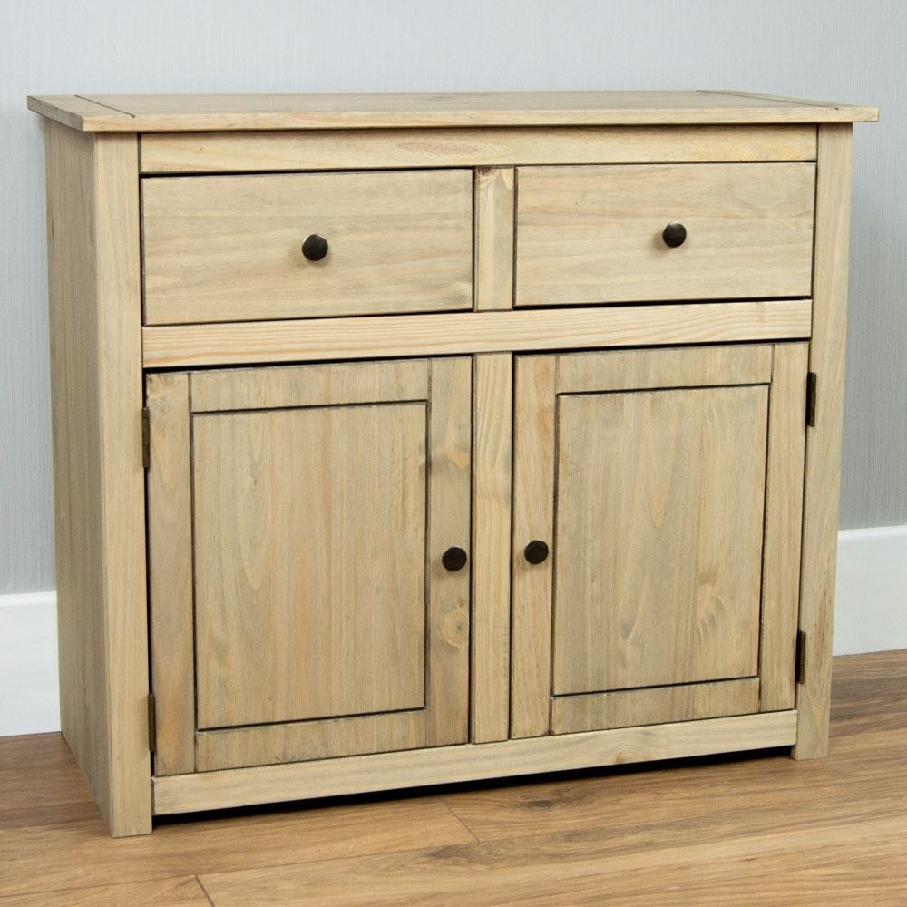 Inspiration about Panama Sideboard 2 Door 2 Drawer Cupboard Chest Natural Wooden Solid Pertaining To Most Current Natural Oak Wood 2 Door Sideboards (#10 of 20)