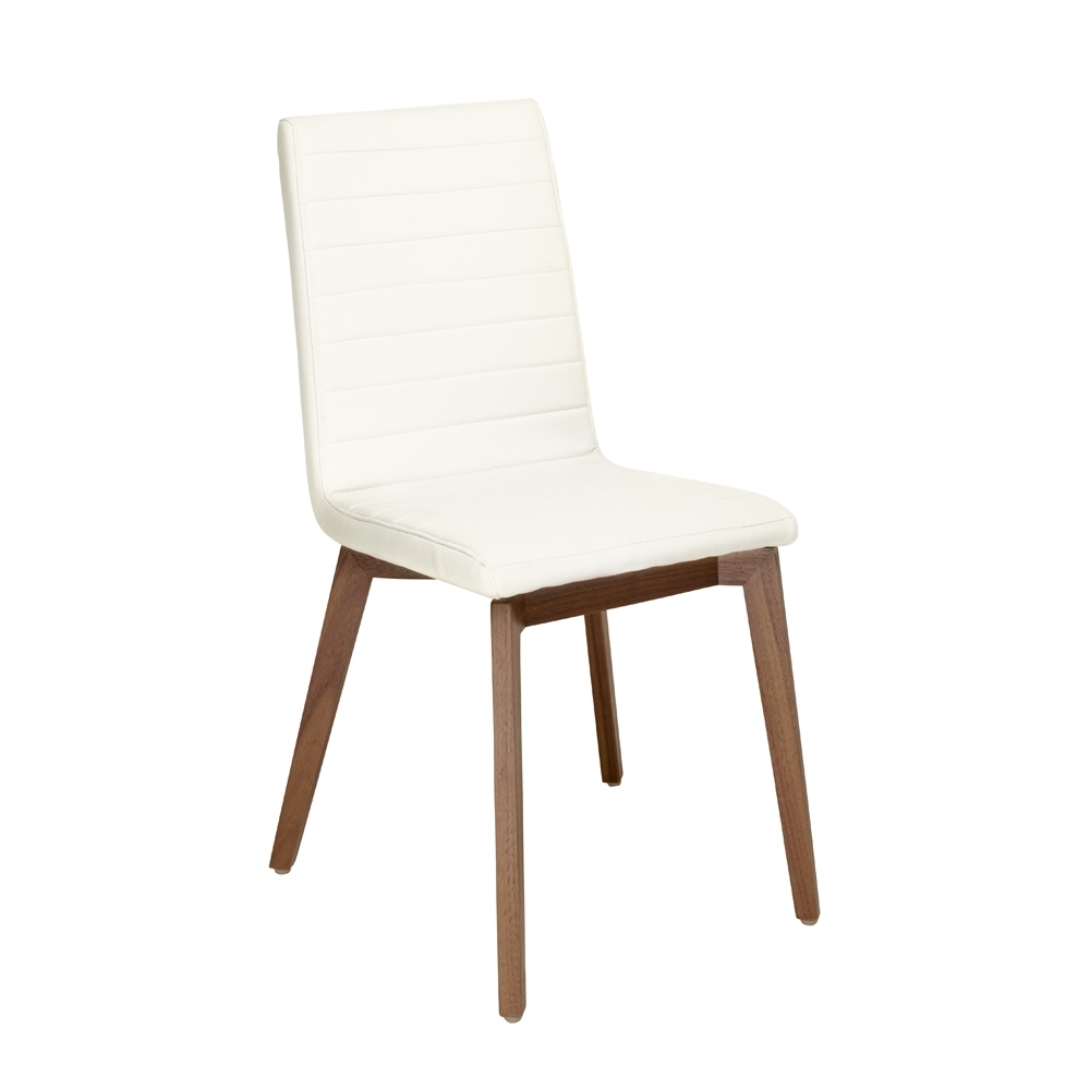 Parquet Dining Chair Faux Leather White – Dwell Pertaining To Best And Newest Parquet Dining Chairs (View 9 of 20)