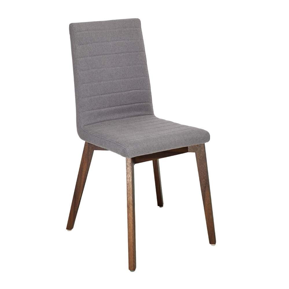 Inspiration about Parquet Dining Chairs With Regard To Best And Newest Parquet Dining Chair Fabric Grey – Dwell (#4 of 20)