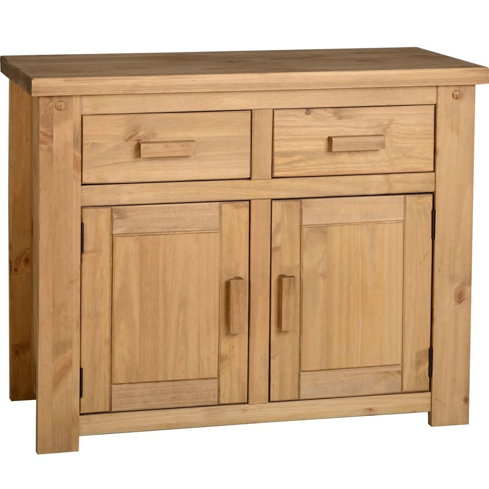 Popular Photo of Aged Pine 3 Drawer 2 Door Sideboards