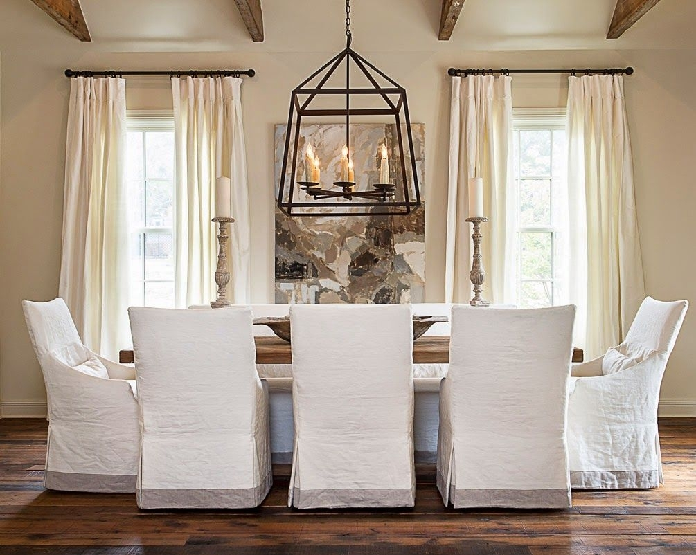 Inspiration about Pearson White Slipcovered Side Chairs With Latest Simple Details: Ikea Henriksdal Chair…this Slipcover With The (#6 of 20)