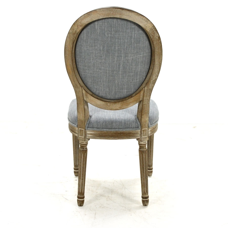 Perla Side Chairs Regarding Well Known Perla Dining Side Chair, Pewter Flax – Home Source Furniture (#9 of 20)