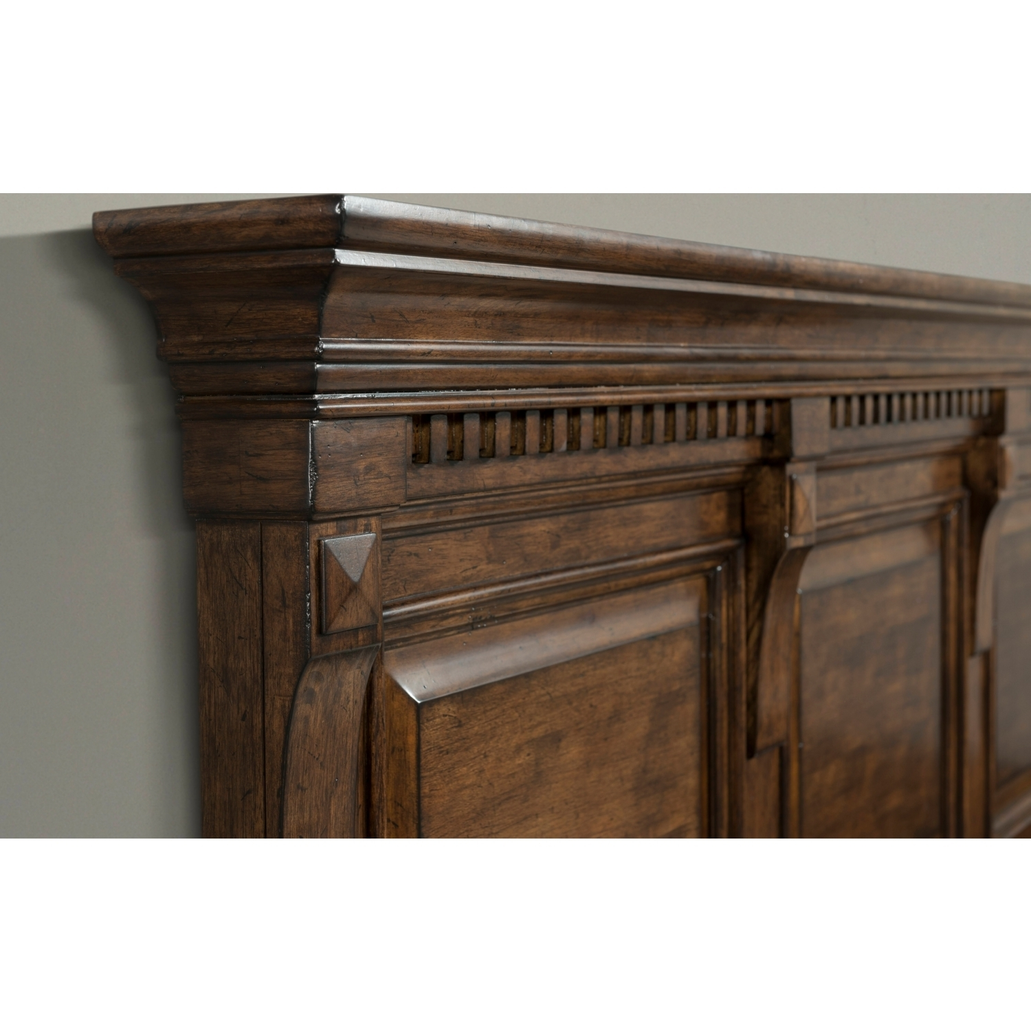Inspiration about Picket House Furniture Hx600Kb4Pc Henry King 4 Piece Bedroom Set In Within Most Recently Released Walnut Finish Crown Moulding Sideboards (#11 of 20)