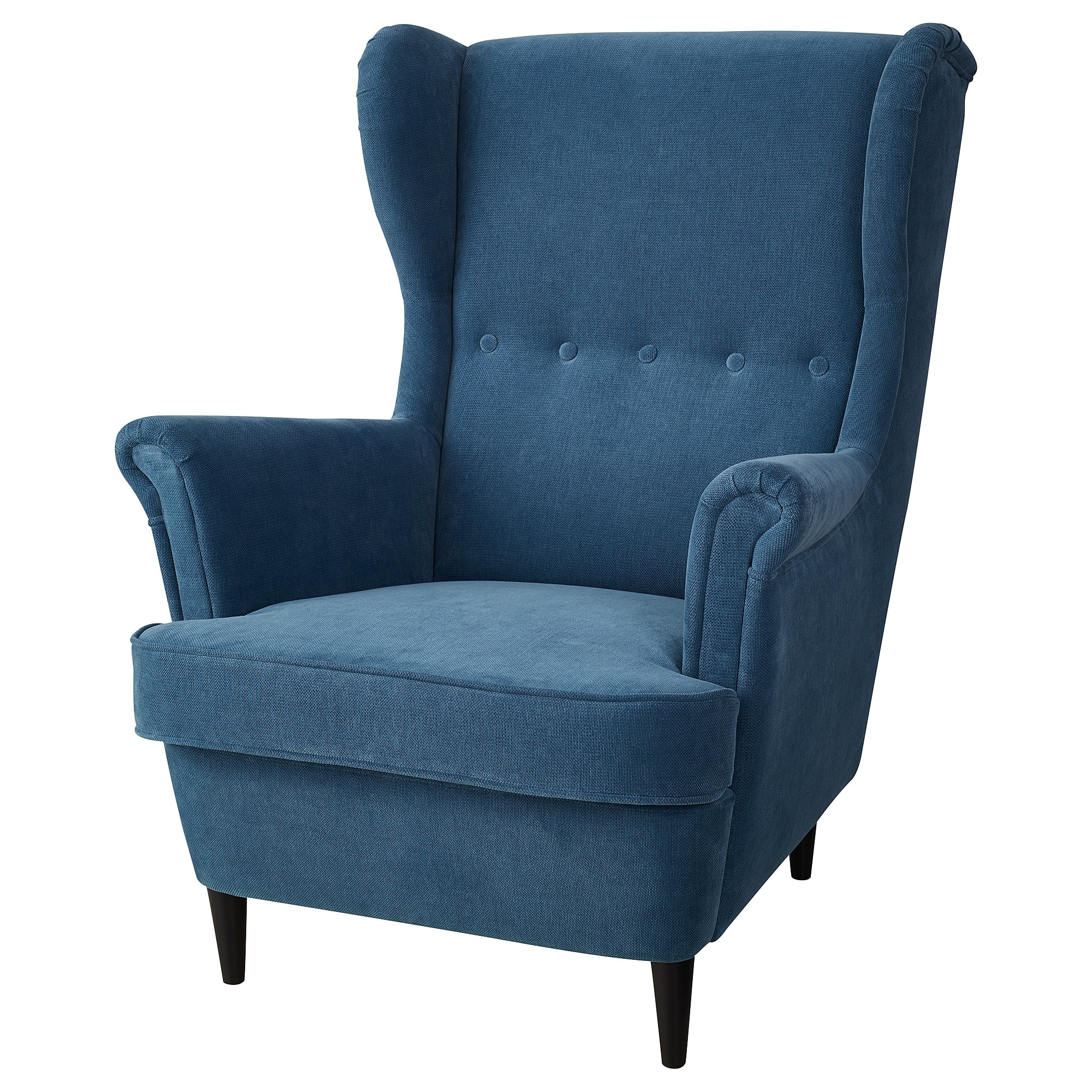 Pilo Blue Side Chairs Inside Most Up To Date Strandmon Wing Chair Tallmyra Blue – Ikea (View 7 of 20)