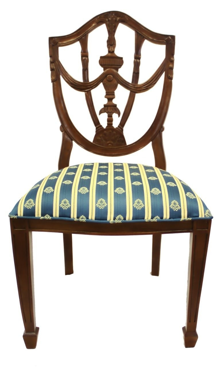 Pilo Blue Side Chairs Throughout Most Current Hand Carved French Style Pila Side Chair With Vanilla, Gold And (View 13 of 20)