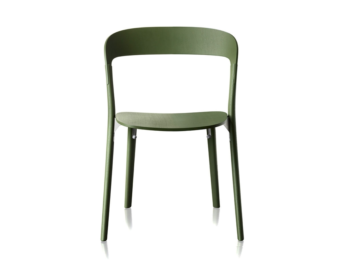 Inspiration about Pilo Grey Side Chairs Pertaining To Best And Newest Magis Pila Chair Two Pack – Hivemodern (#14 of 20)