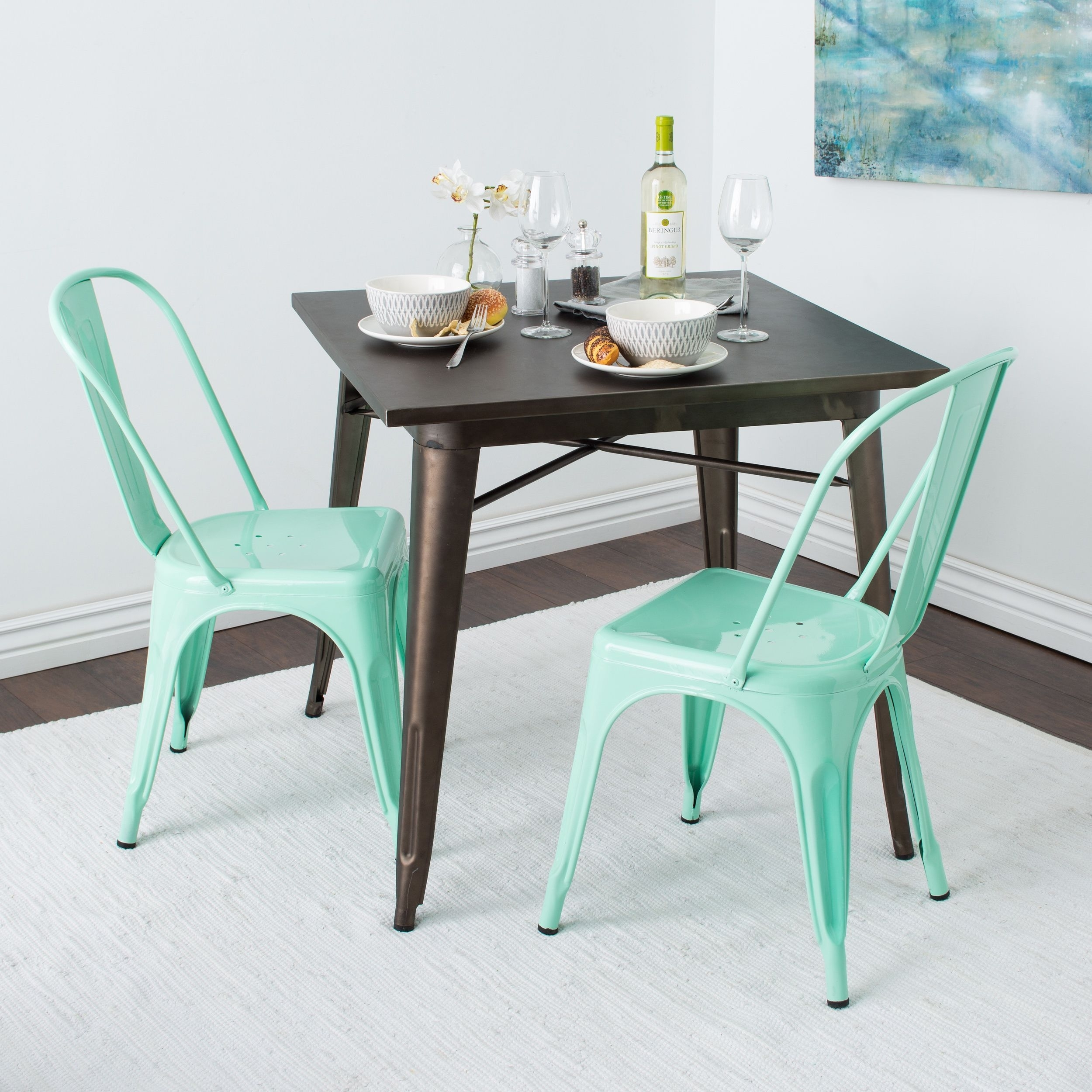 Pinot Side Chairs Within Latest Tabouret Bistro Side Chair Hint Of Mint (Set Of 2), Green (Metal (#14 of 20)