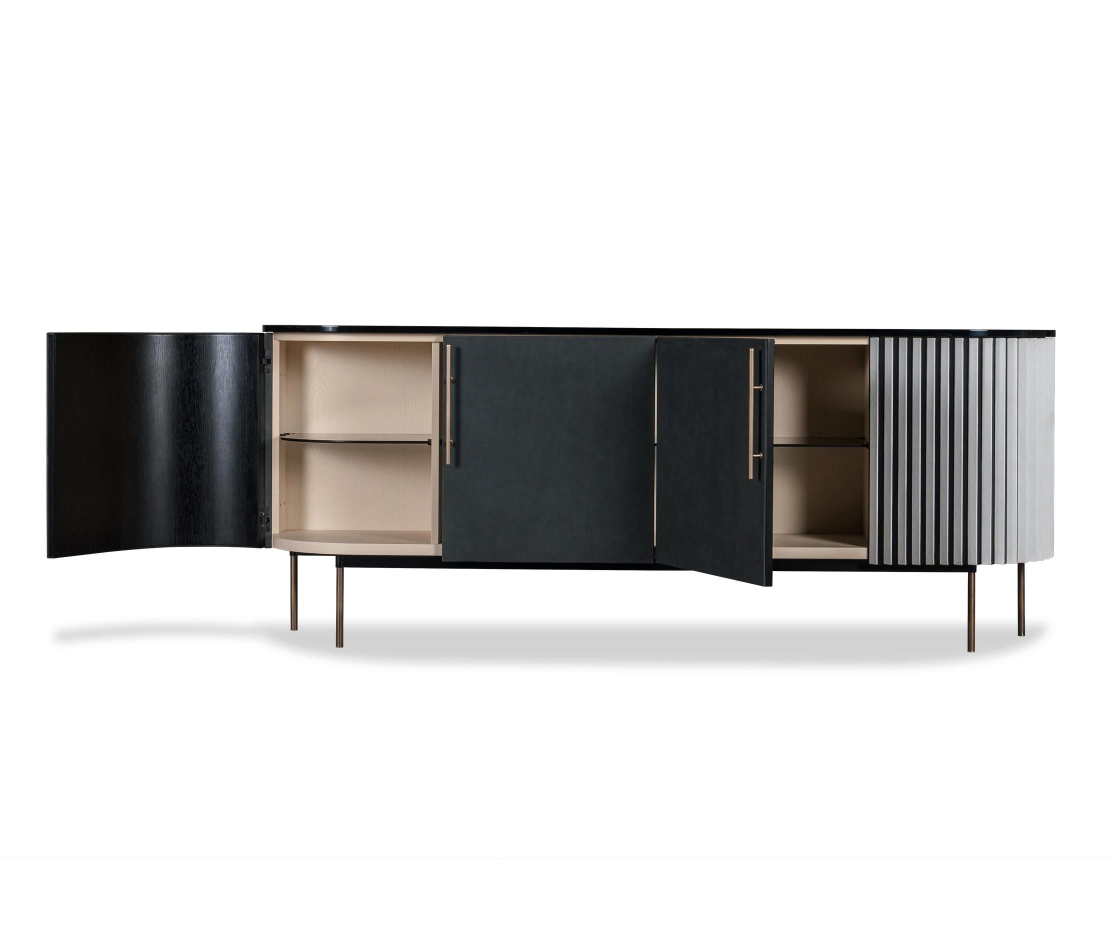 Inspiration about Plissé Low Cabinetbaxter | Sideboards | Furniture Cabinet Low Intended For Most Recent Rani 4 Door Sideboards (#11 of 20)