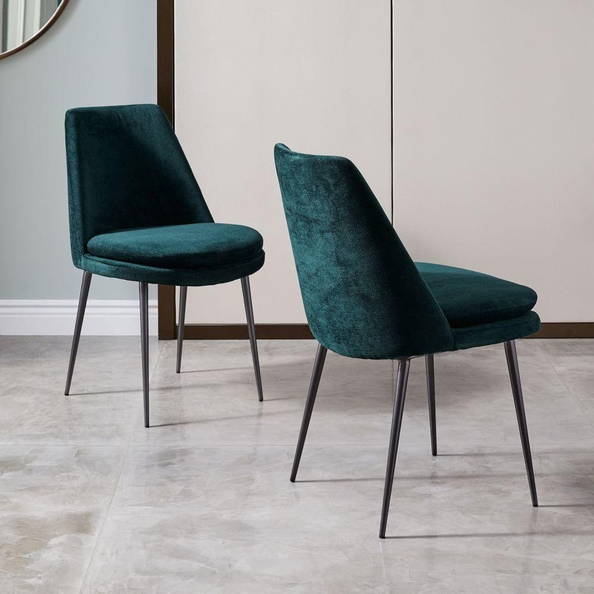 Popular Finley Low Back Velvet Dining Chair In (View 12 of 20)