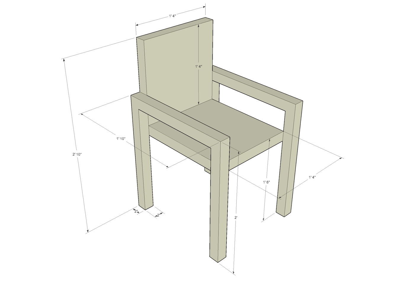 Popular Grady Side Chairs Within Grady Middle School Citizen Sketchup Furniture Dimensions (#14 of 20)