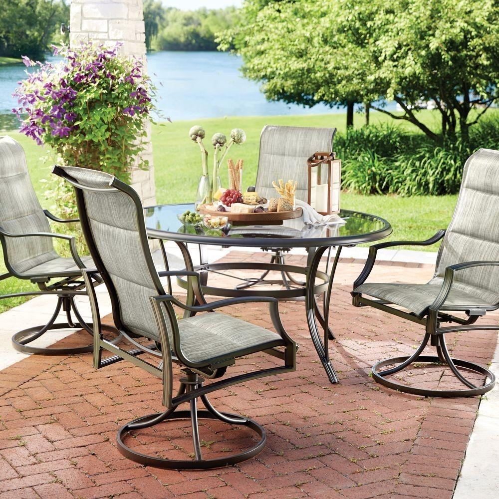 Popular Photo of Garten Storm Chairs With Espresso Finish Set Of