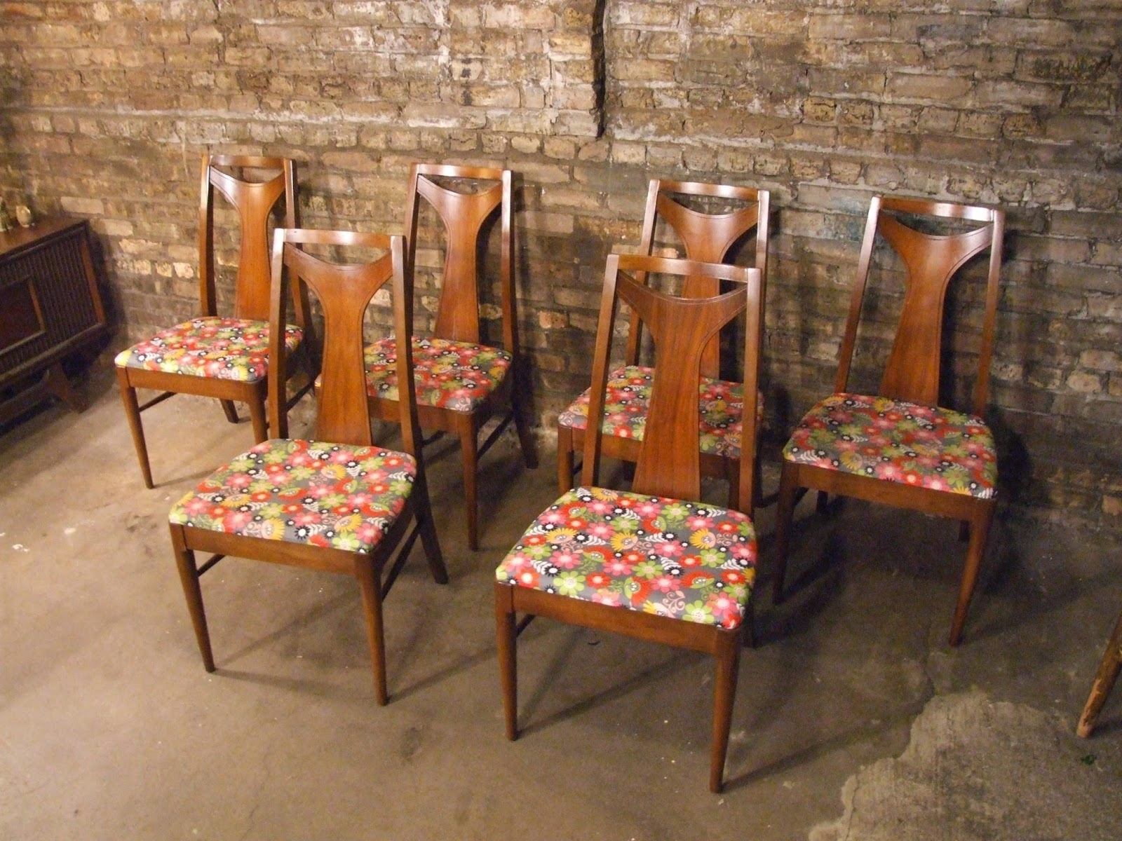 Popular Kent Dining Chairs With Mid Century Chicago: Set Of 6 Kent Coffey Dining Chairs (View 12 of 20)
