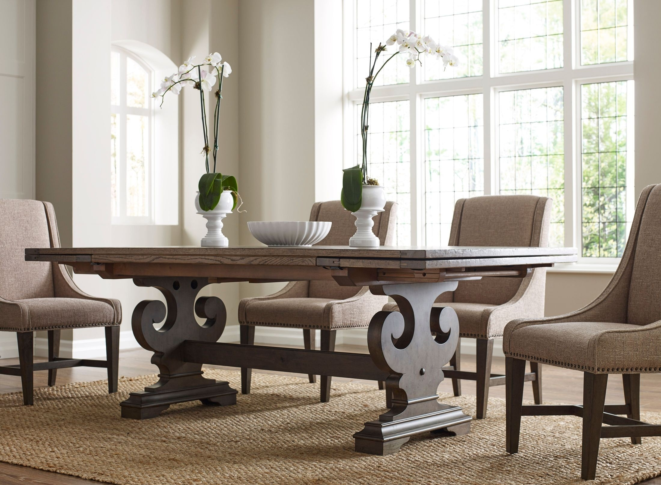 Popular Kincaid Greyson Crawford Refractory Extendable Dining Table In Crawford Side Chairs (#15 of 20)