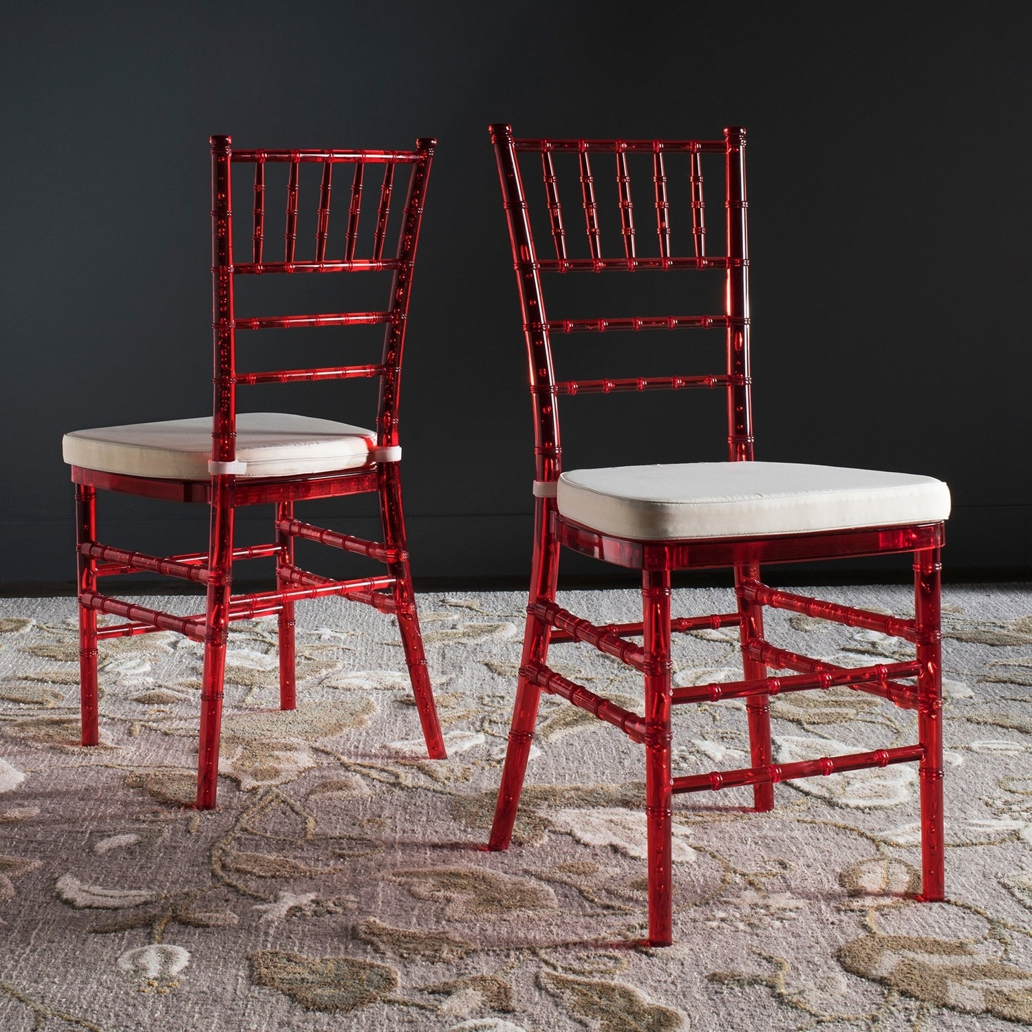Inspiration about Popular Safavieh Country Classic Dining Carly Red Dining Chairs (Set Of 2 Intended For Carly Side Chairs (#11 of 20)