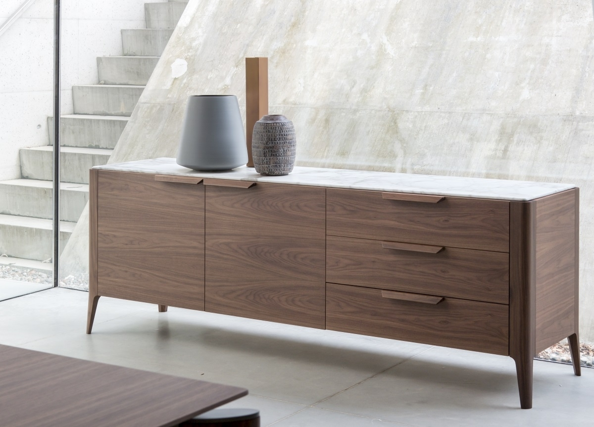 Inspiration about Porada Atlante Sideboard | Porada Furniture | Porada Sideboards Regarding 2017 Walnut Small Sideboards (#16 of 20)