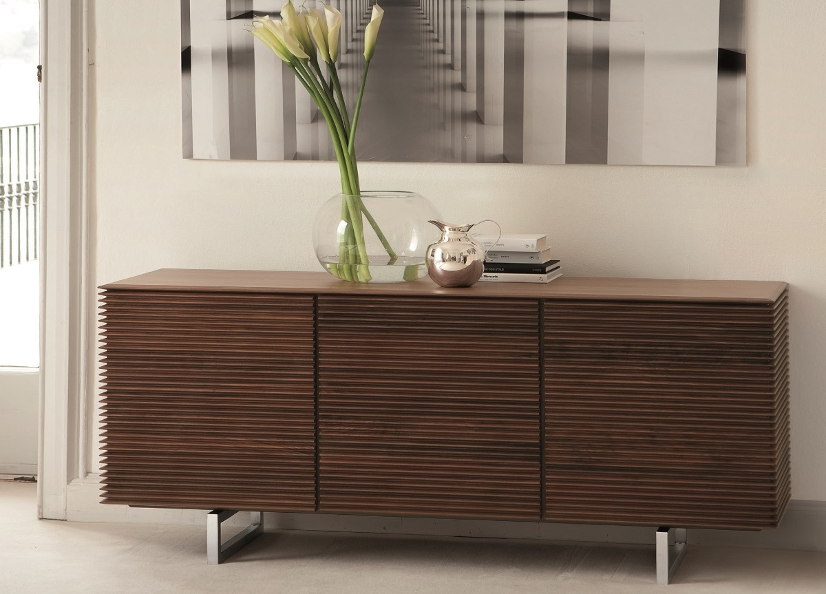 Inspiration about Porada Riga Sideboard | Porada Furniture | Porada Sideboards In Most Recent Walnut Finish 4 Door Sideboards (#18 of 20)