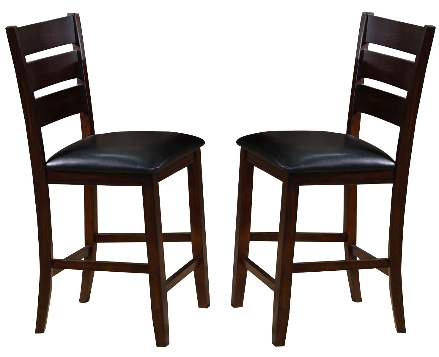 Preferred Bardstown Side Chairs Pertaining To Crown Mark Crown Mark Bardstown Counter Height Chair In Espresso (#15 of 20)