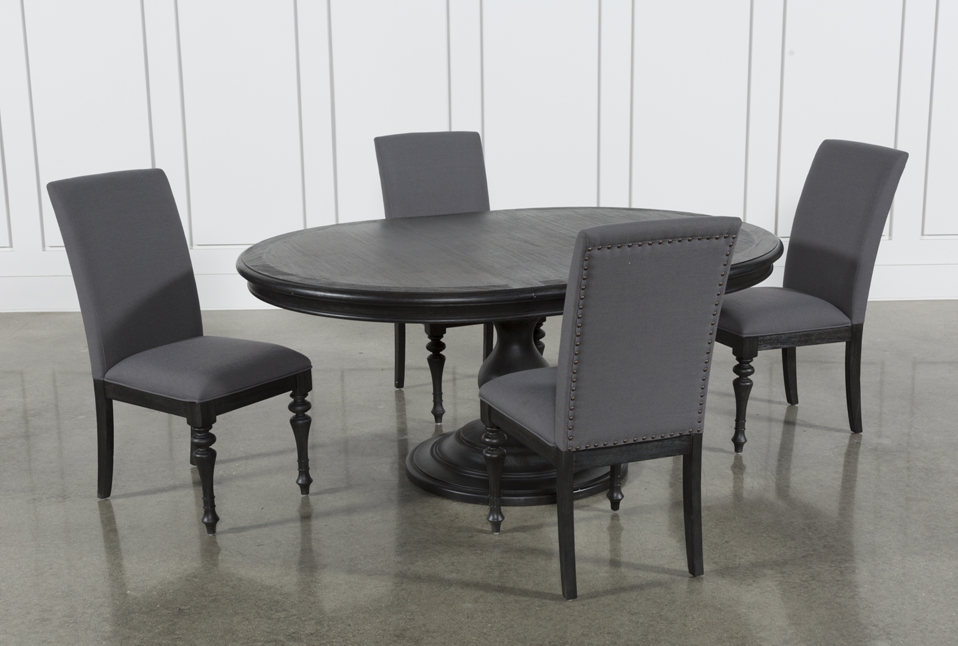 Preferred Global Furniture Bar Table Black Throughout Caira Upholstered Side Chairs (#15 of 20)