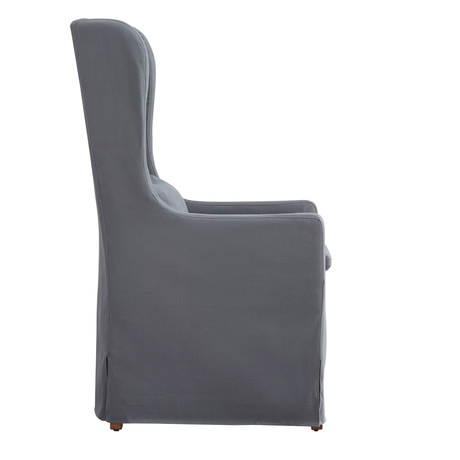 Inspiration about Preferred Homehills Lisle Grey Slipcover Wingback Host Chair 22E703C1Pc Gaf(3A Throughout Pearson Grey Slipcovered Side Chairs (#20 of 20)