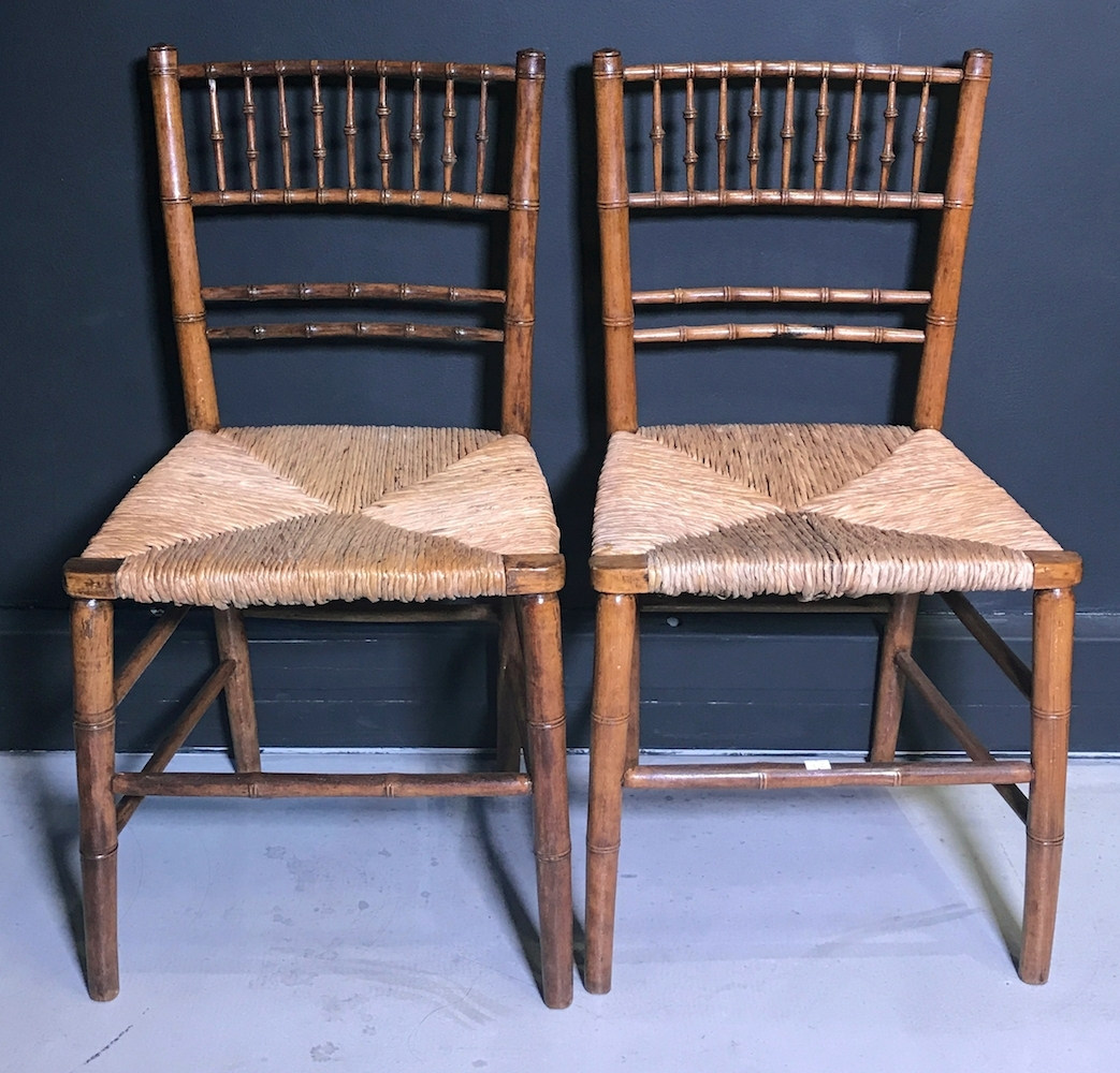 Inspiration about Preferred Omni Side Chairs Throughout A Pair Of Faux Bamboo Side Chairs, Early 20Th Century, – Omni Fine (#10 of 20)