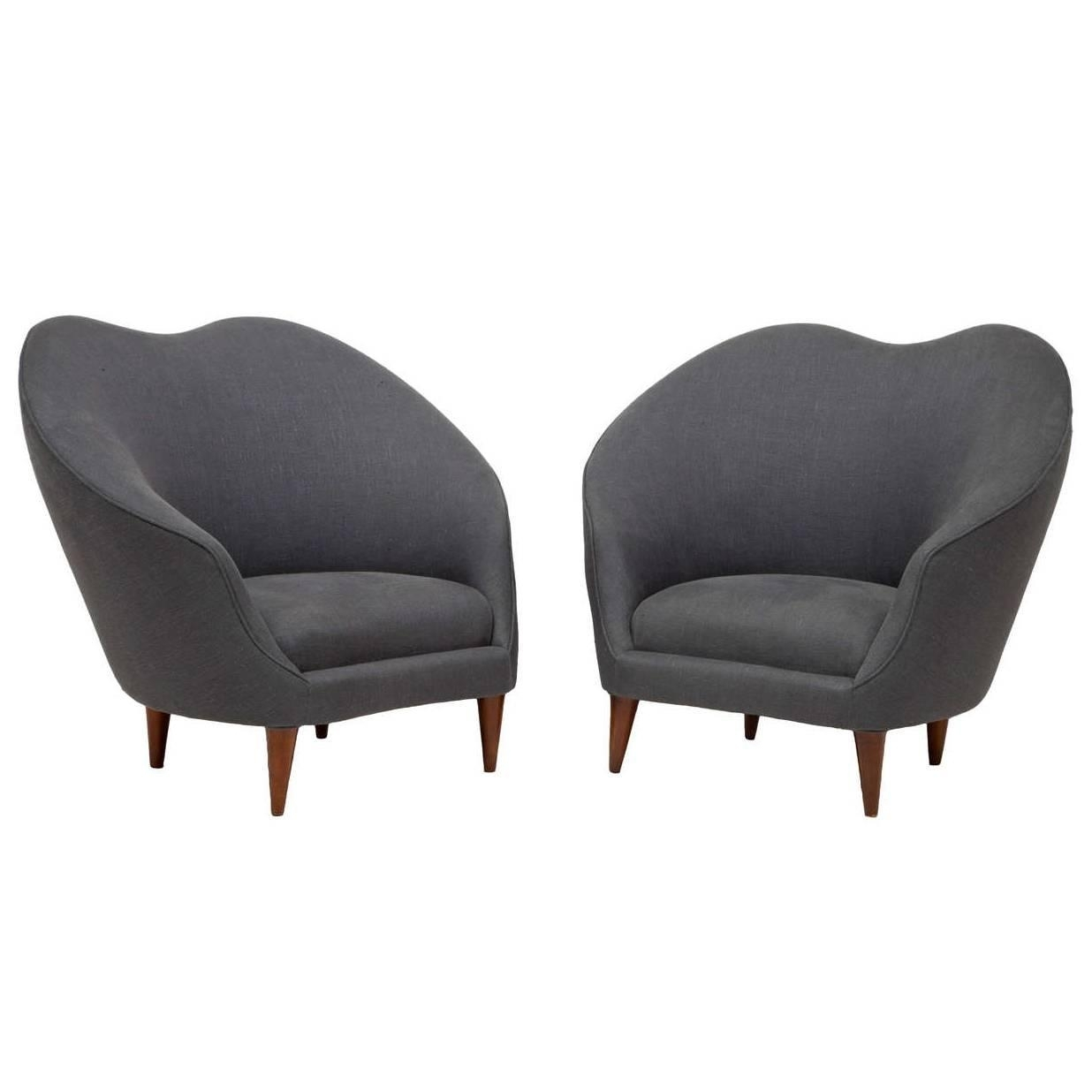 Preferred Pair Of Upholstered Armchairsfederico Munari – Caira Mandaglio Within Caira Upholstered Arm Chairs (#10 of 20)