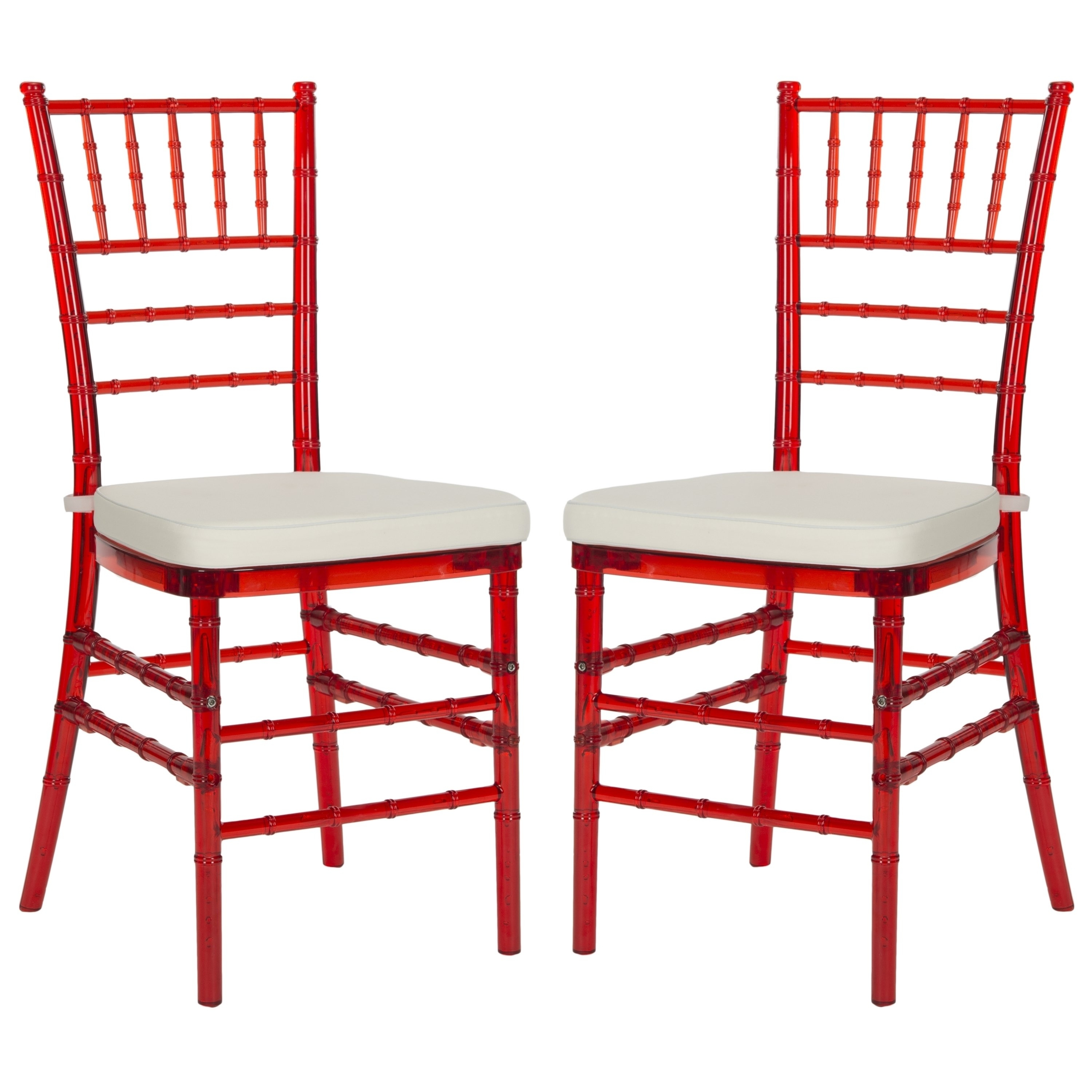 Preferred Safavieh Country Classic Dining Carly Red Dining Chairs (Set Of 2 Intended For Carly Side Chairs (View 15 of 20)