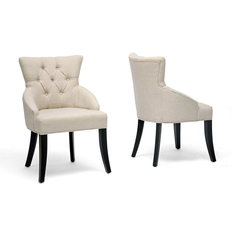 Inspiration about Preferred Shop Halifax Light Beige Dining Chair (Set Of 2) – Free Shipping Pertaining To Caira Black Upholstered Diamond Back Side Chairs (#18 of 20)