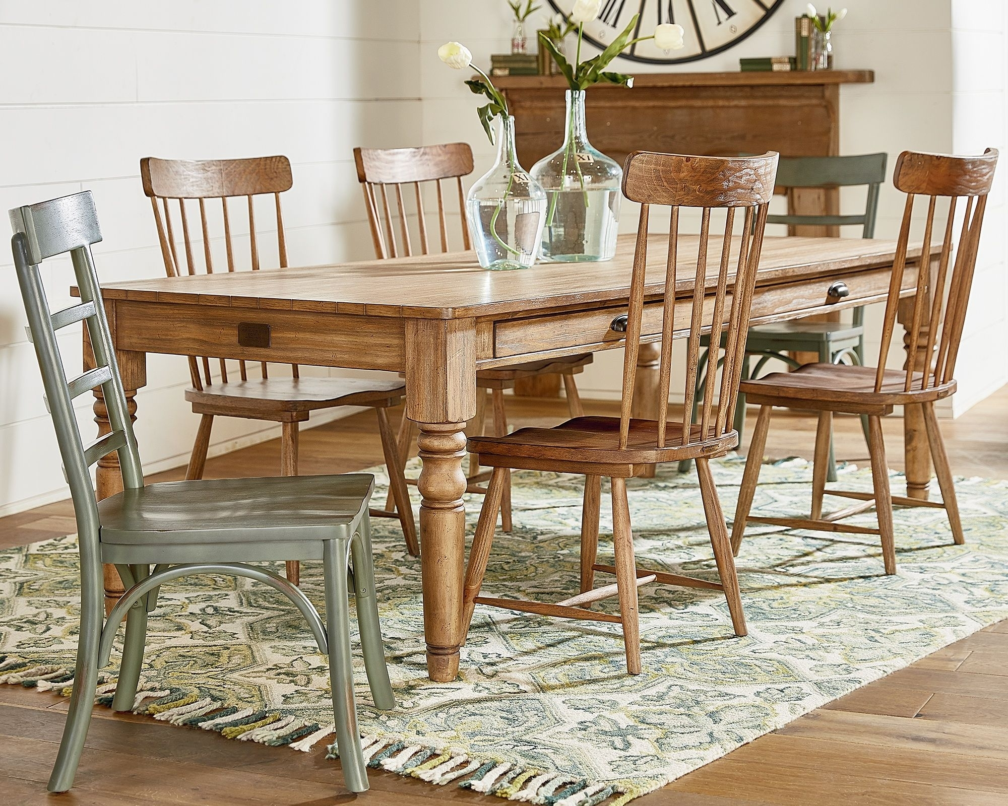 Primitive Taper Turned Dining – Magnolia Home (#17 of 20)
