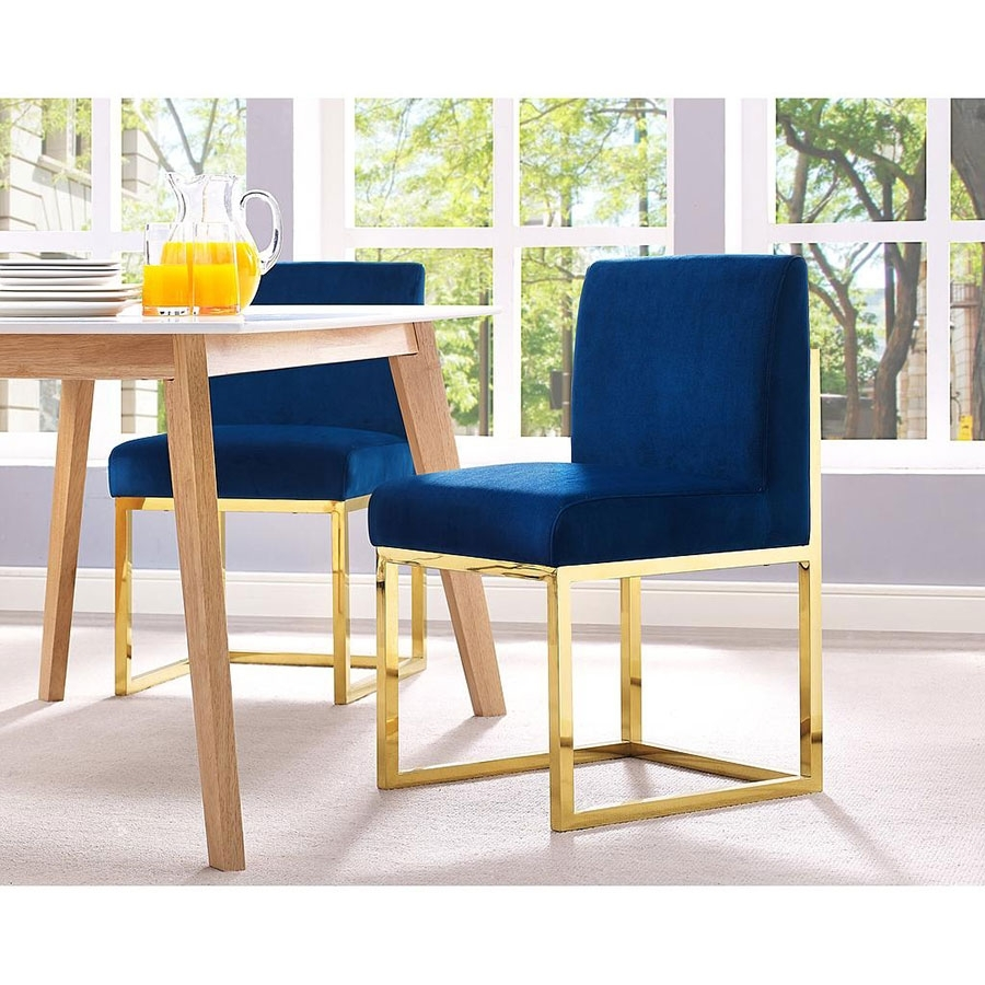 Inspiration about Probably Fantastic Ideal Gold Parsons Chairs Photo : Healthwithmms With Well Known Dining Chairs With Blue Loose Seat (#8 of 20)