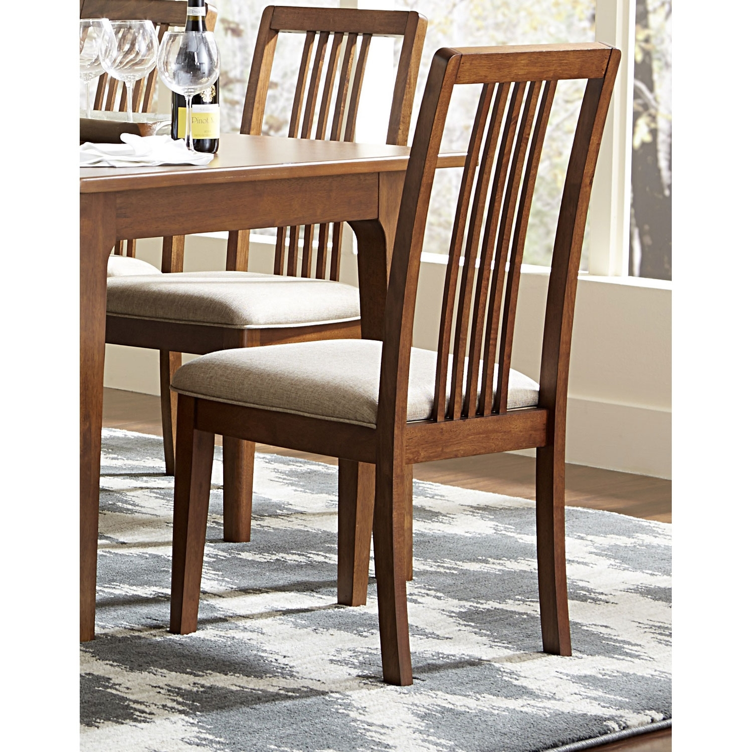 Progressive Furniture Mid Mod Tallback Upholstered Dining Chairs For 2019 Pinot Side Chairs (#18 of 20)