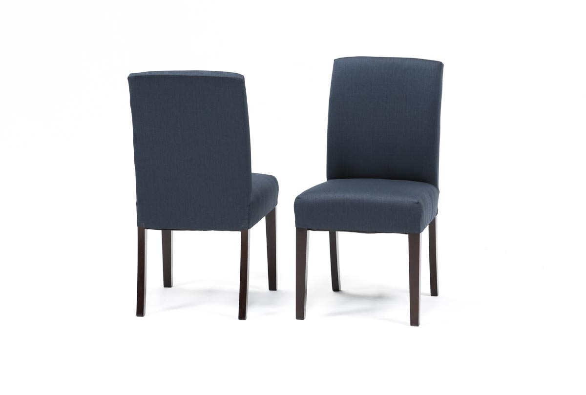 Inspiration about Recent Garten Onyx Chairs With Greywash Finish Set Of 2 With Garten Navy Chairs W/espresso Finish Set Of 2 (#2 of 20)