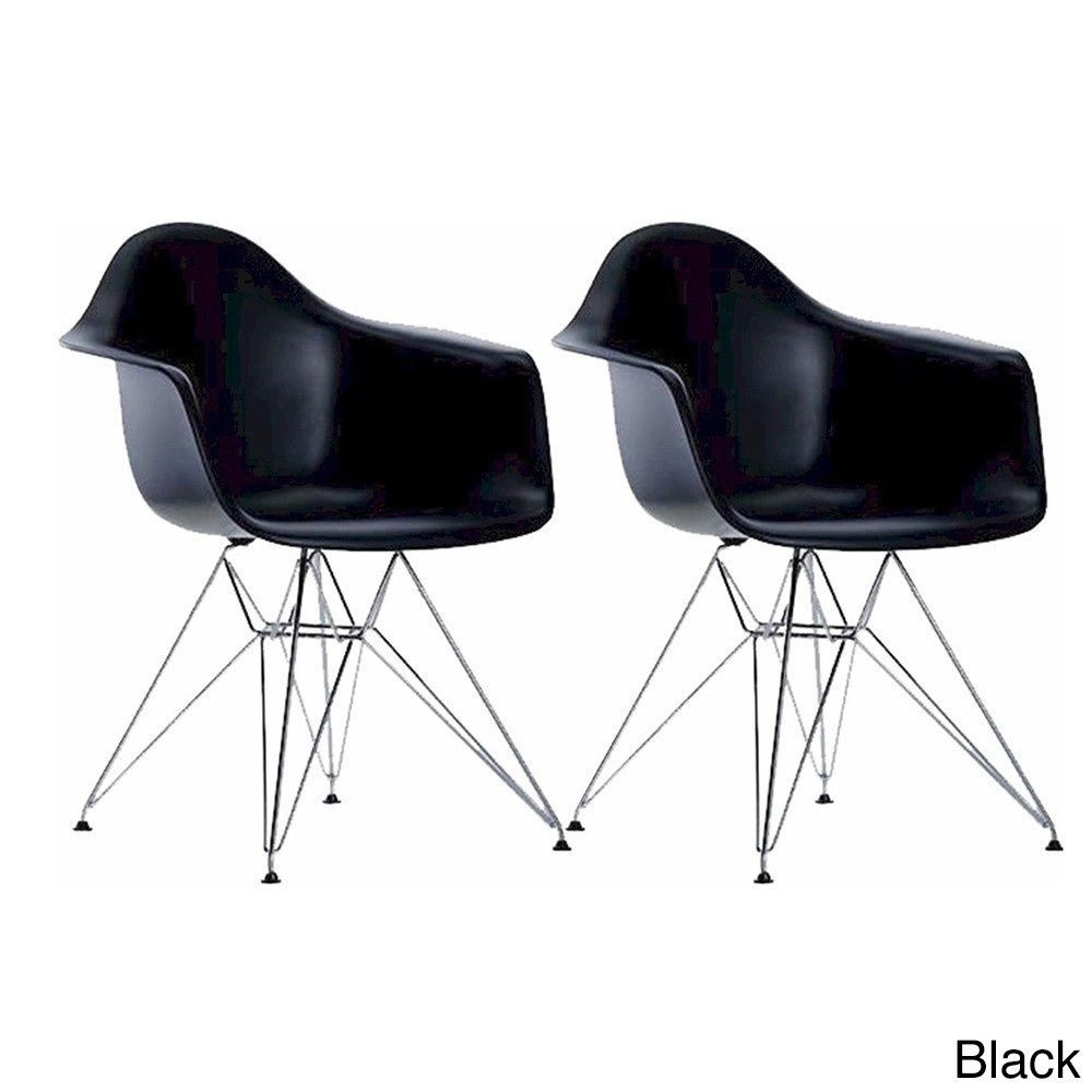 Recent Mod Ii Arm Chairs Within Mod Made Paris Tower Chrome Leg Arm Chair (Set Of 2) (Chocolate (View 2 of 20)