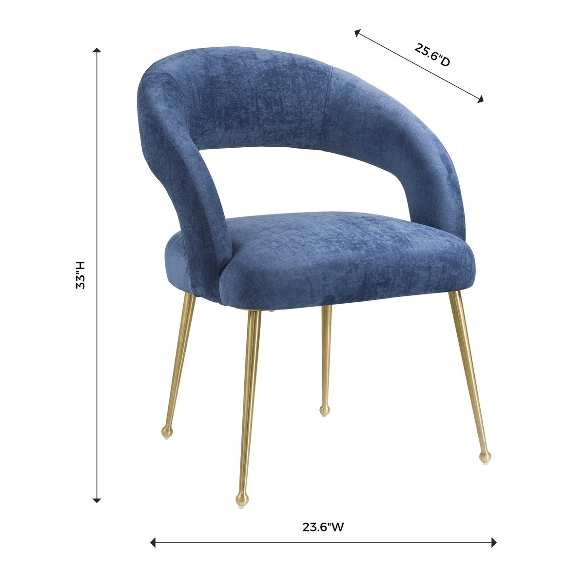 Inspiration about Recent Rocco Side Chairs Intended For Candelabra Home Rocco Dining Chair – Slub Navy (#11 of 20)