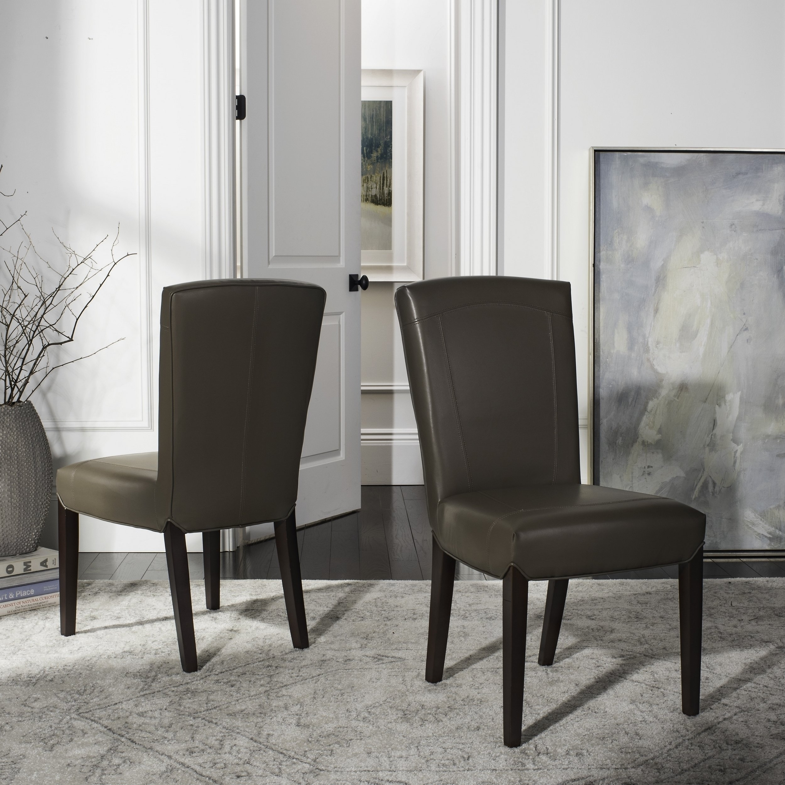Recent Shop Safavieh Parsons Dining Bowery Brown Clay Leather Dining Chairs Pertaining To Bowery Ii Side Chairs (#15 of 20)