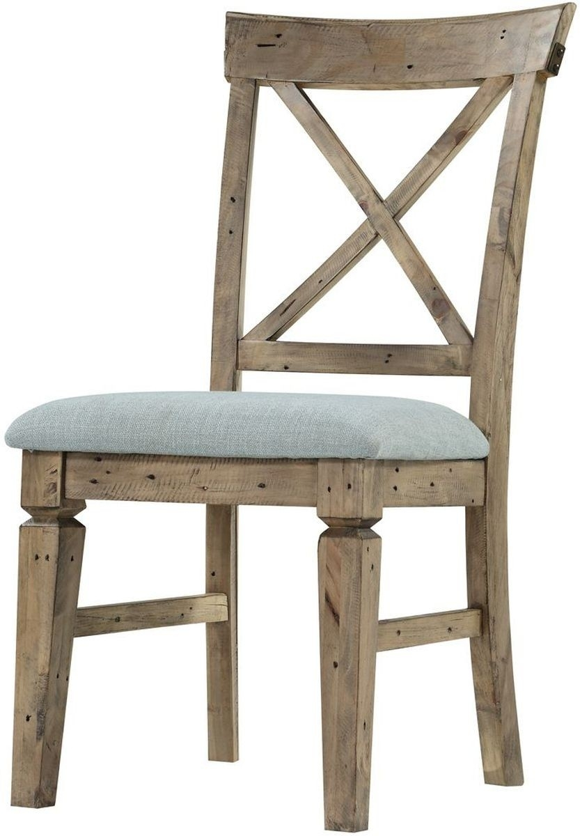 Inspiration about Recent Valencia Side Chairs With Upholstered Seat For Emerald Home Furnishings Valencia Side Chair Cross Back With (#3 of 20)