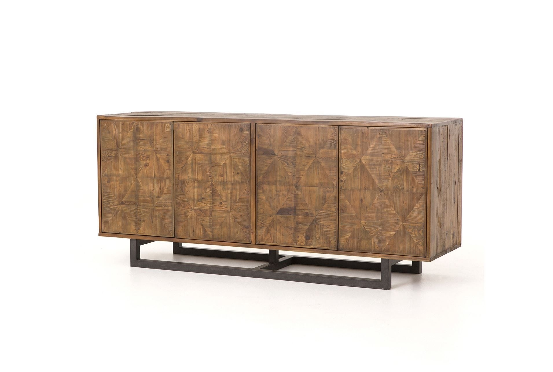 Reclaimed Pine & Iron 72 Inch Sideboard | Pine, Iron And Consoles With Recent Brown Wood 72 Inch Sideboards (#12 of 20)