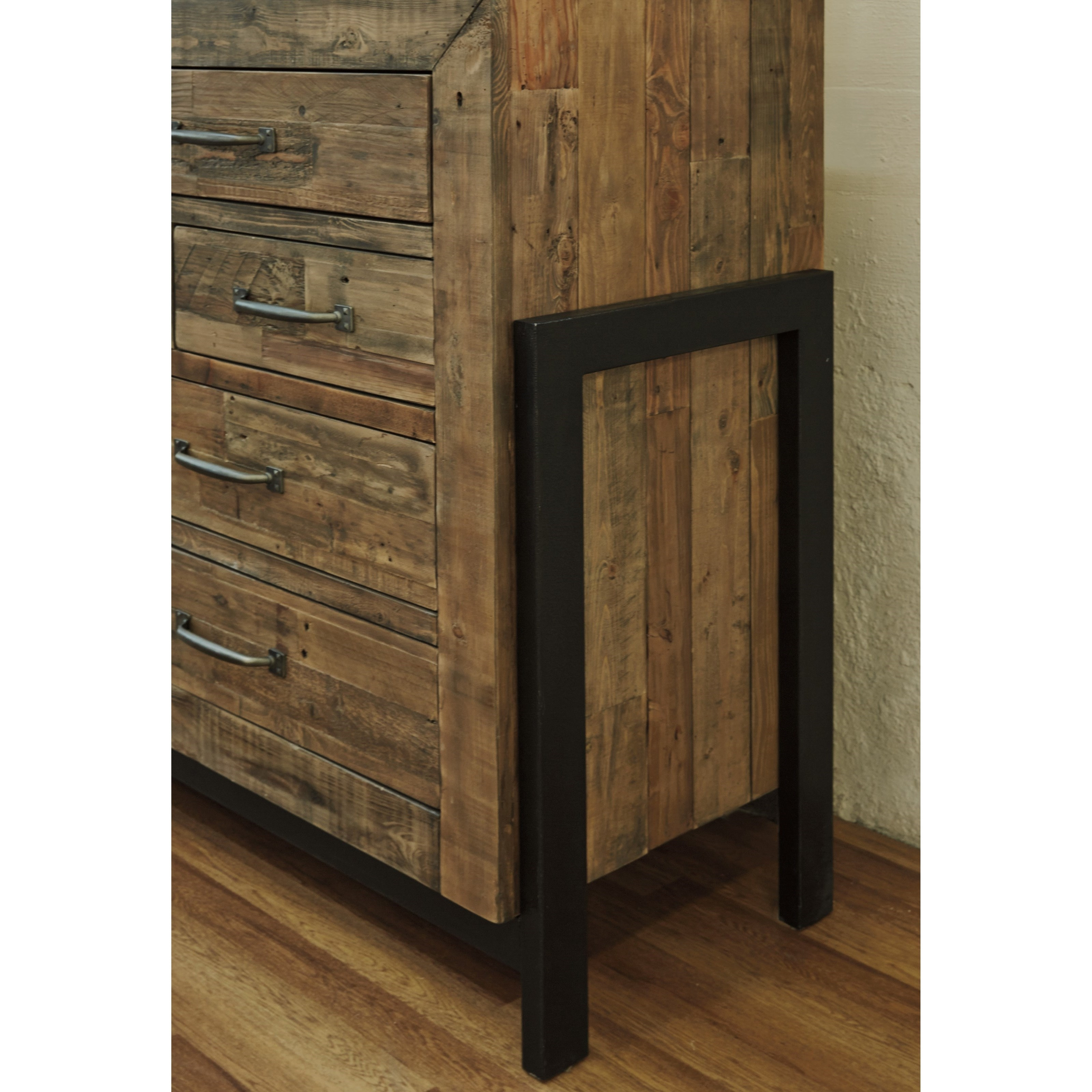 Inspiration about Reclaimed Pine Solid Wood Dresser With Metal Framesignature Inside Best And Newest Metal Framed Reclaimed Wood Sideboards (#7 of 20)