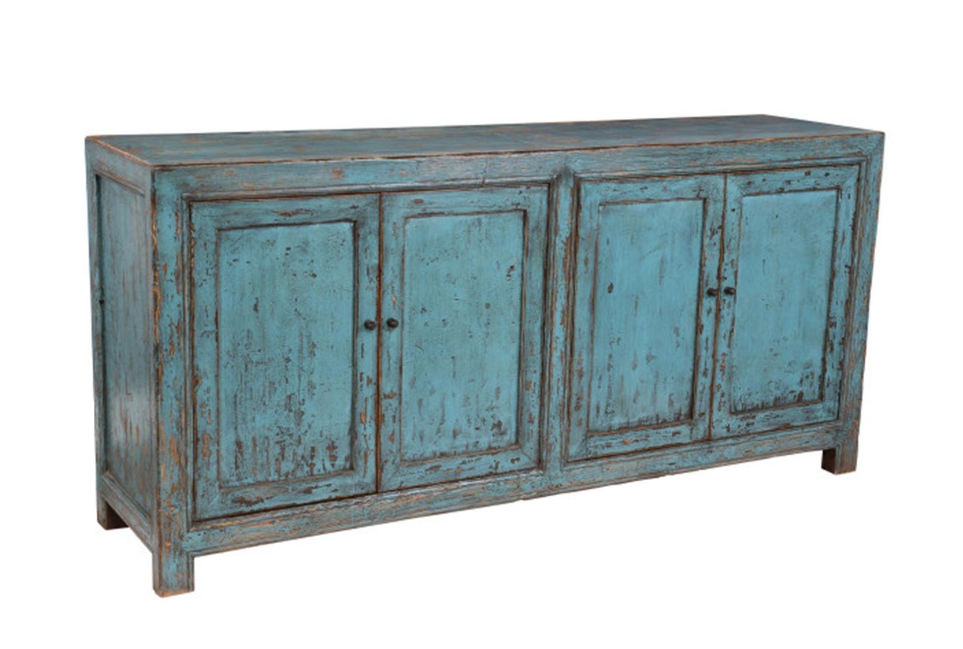 Reclaimed Pine Turquoise 4 Door Buffet | Pedigo Project | Pinterest Regarding Current Reclaimed Pine 4 Door Sideboards (View 4 of 20)