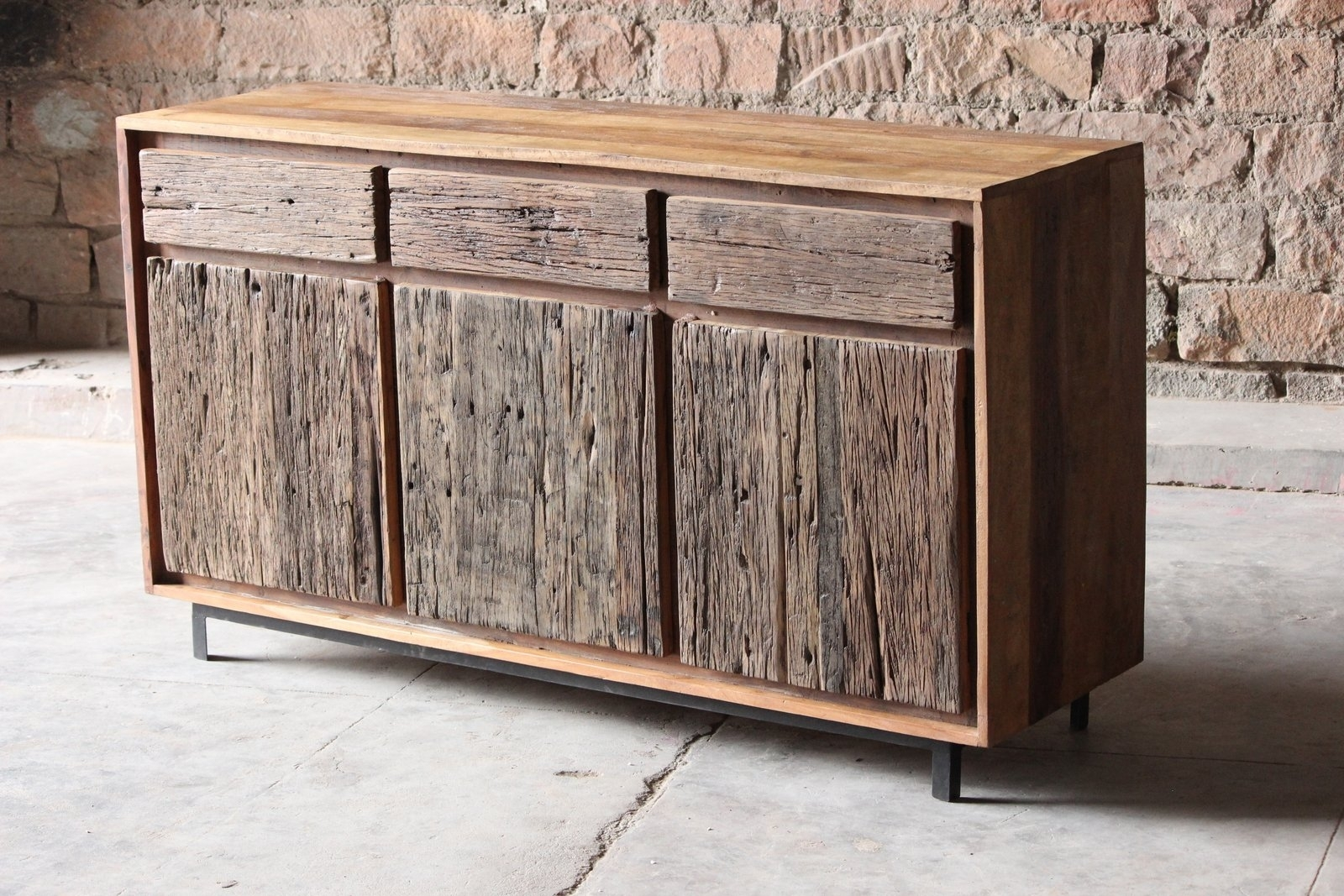 Inspiration about Reclaimed Wood Sideboard From Wine Cabinet — Rocket Uncle Rocket Uncle Within Best And Newest Reclaimed 3 Drawer Icebox Sideboards (#6 of 20)