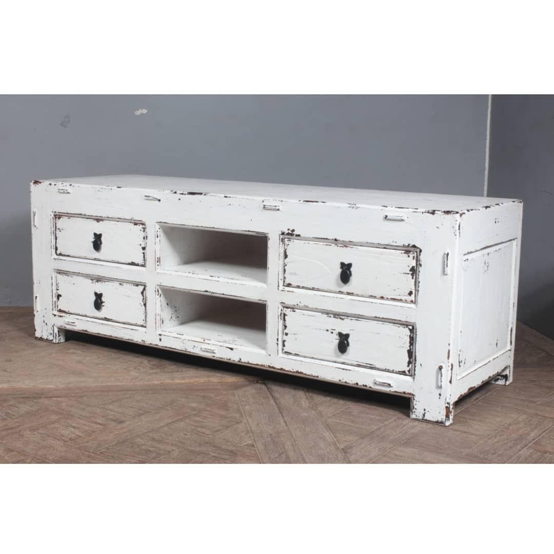 "Ref: Sbs 656 B ""angkong"" Short Rustic Low Media Cabinet #furniture Within Current Bale Rustic Grey Sideboards (#17 of 20)"